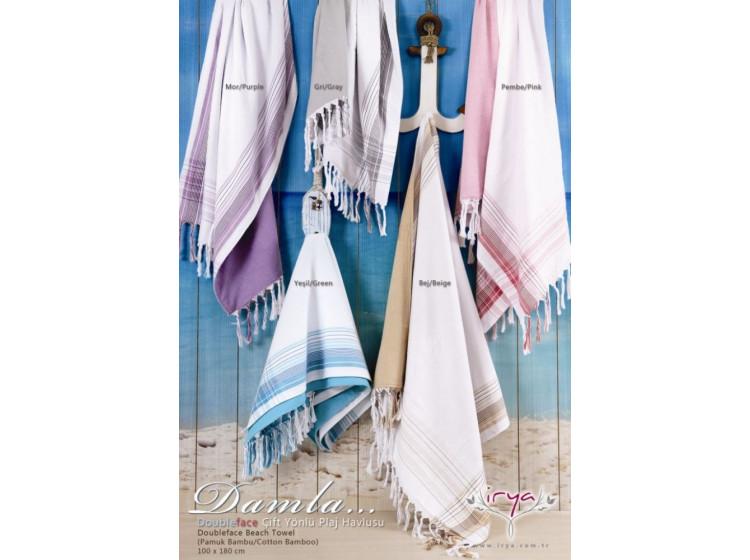 Damla bej (бежевый) полотенце пляжное