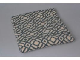 Одеяло шерстяное Жаккард арт.6 85%шерсть, 15%ПЕ (серый)