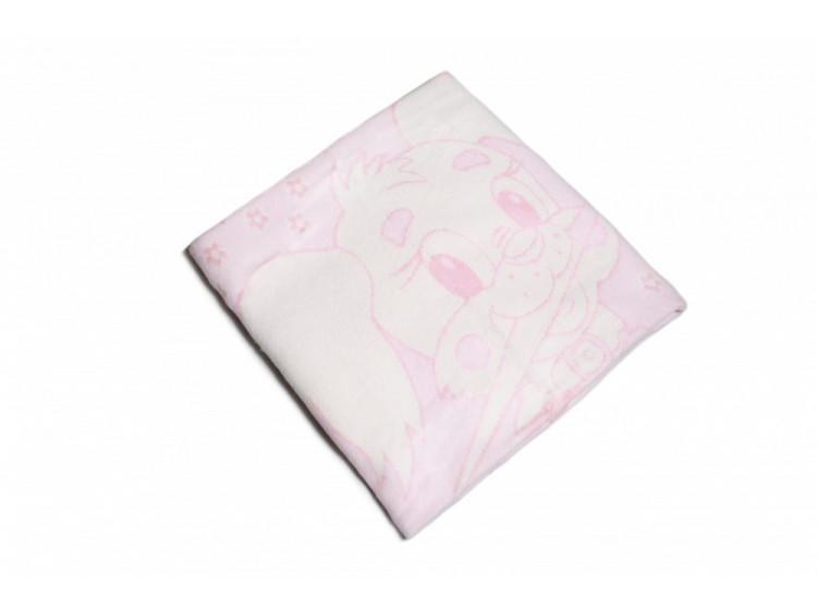 Одеяло Хлопок100% Заяц розовый (арт.02-11)